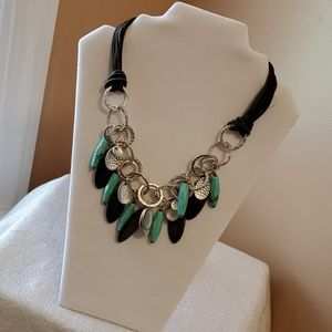 Mixit turquoise and silver tone necklace